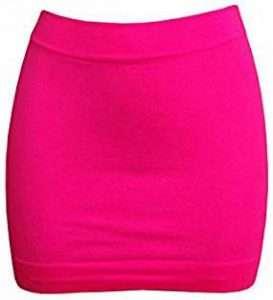 Kostüm selber machen Pinker Minirock