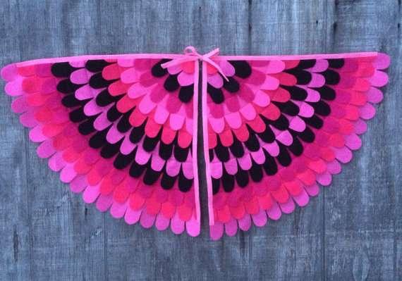 Flamingo Kostüm selber machen - Flügel