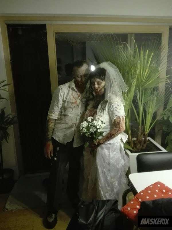 maskerix - Zombie Kostüm für Paare selber machen