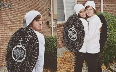 Oreo Kostüm für Paare selber machen