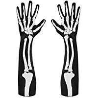 Amazon - Kostüm selber machen - Lange Skelett-Handschuhe