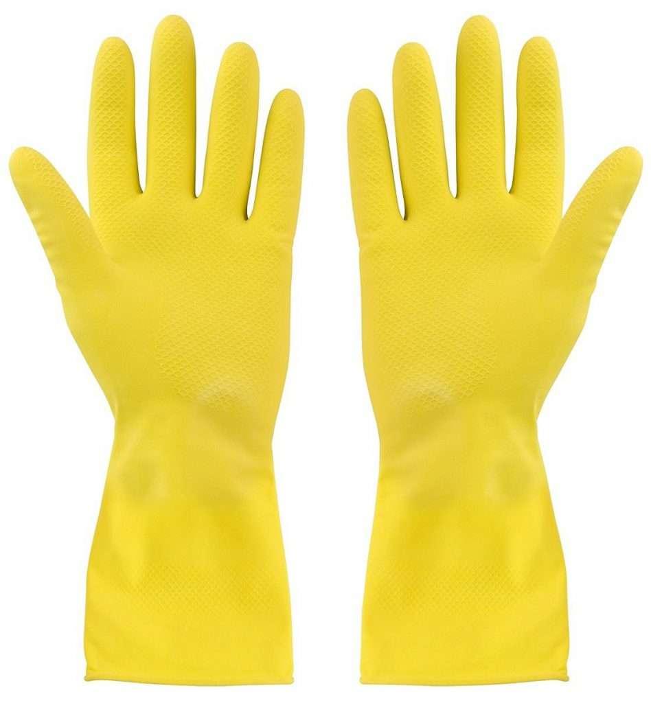 Gelbe Gummi Handschuhe