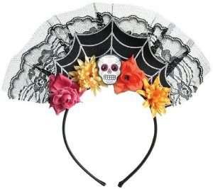 Catrina Sugar Skull Kostüm selber machen zu Karneval, Halloween & Fasching - Haarreif