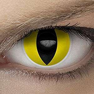 Amazon - Kostüm selber machen - Gelbe Kontaktlinsen Katze