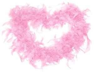 Flamingo Kostüm selber machen Federboa Rosa