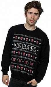 Deadpool Kostüm Weihnachts-Pullover