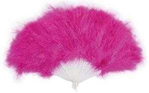 Kostüm selber machen Pinker Feder-Fächer
