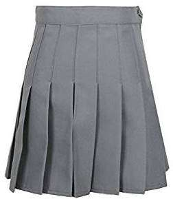Grauer Faltenrock | Kostüm selber machen