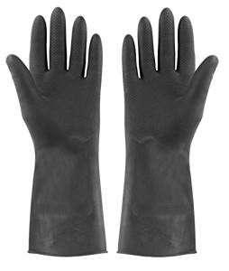 Schwarze Gummihandschuhe | Kostüm selber machen