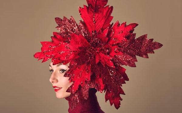 Poinsettia Weihnachtsstern Kostüm selber machen