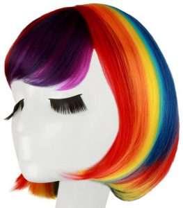 Regenbogen Perücken   Kostüm Idee zu Karneval, Halloween & Fasching
