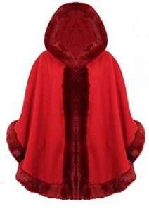 Roter Poncho |Kostüm selber machen