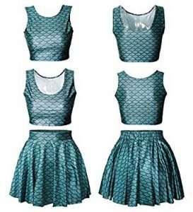 Meerjungfrau Kostüm selber machen Tank Kleid | Kostüm Idee zu Karneval, Halloween & Fasching