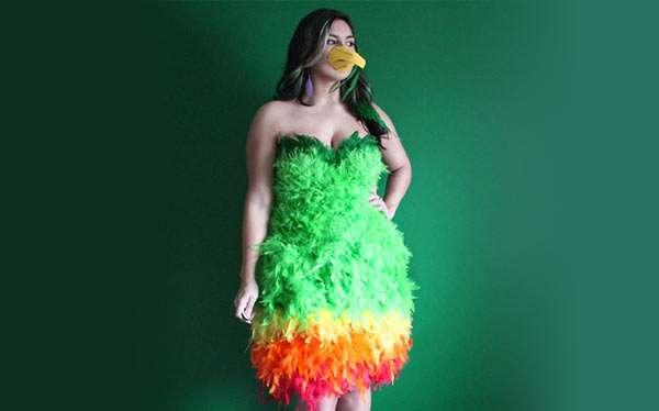 Papagei Kostüm selber machen