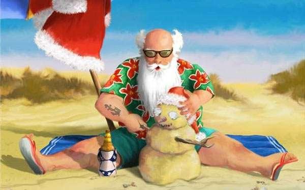 Weihnachtsmann auf Urlaub Kostüm selber machen