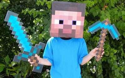 Minecraft Steve Kostüm selber machen