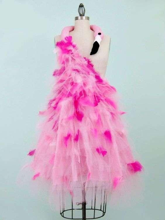 Flamingo Kostüm selber machen | Kleid