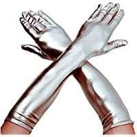 Kostüm Idee zu Karneval, Halloween & Fasching - Silberne Handschuhe