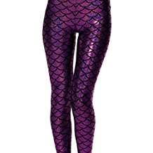 Kostüm selber machen - Lila Meerjungfrau Leggings