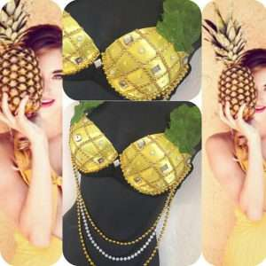 Ananas Kostüm selber machen - Bra