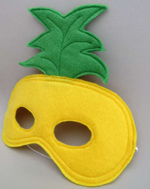 Ananas Kostüm selber machen - Maske