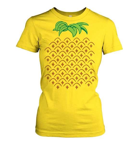 Ananas Kostüm selber machen - Shirt