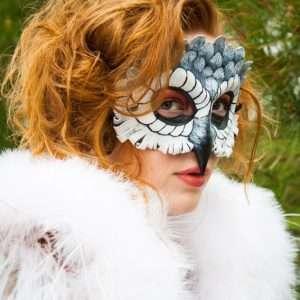 Eulen Kostüm selber machen - Maske
