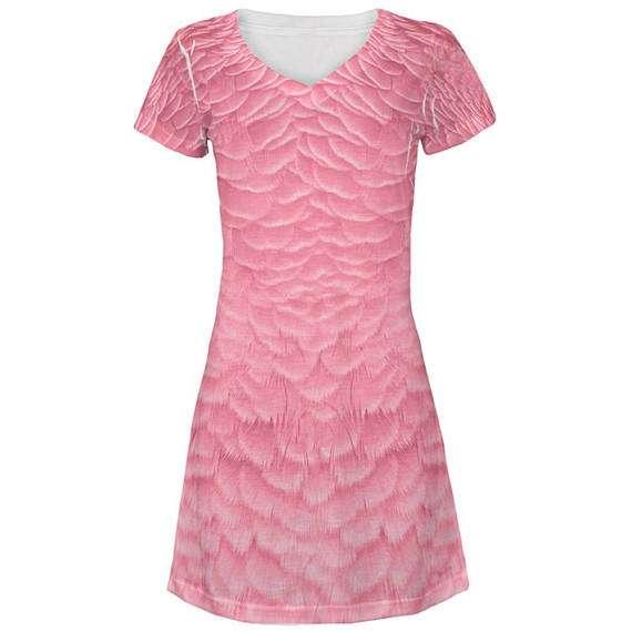 Flamingo Kostüm selber machen - Kleid