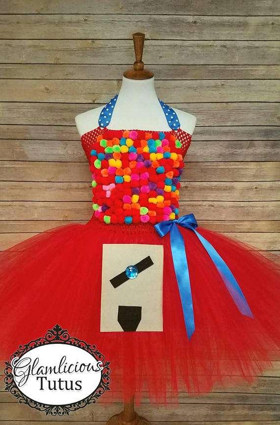 Kaugummiautomat Kostüm selber machen - Tutu