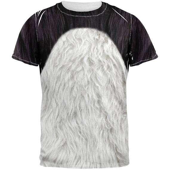 Panda Kostüm selber machen - Shirt