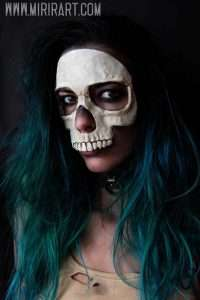 Skelett Kostüm selber machen - Masken