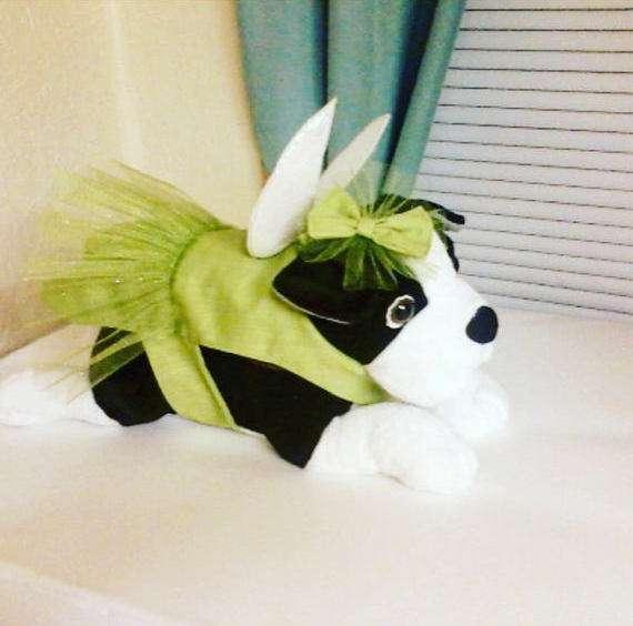 Tinkerbell Kostüm selber machen - Hundekostüm