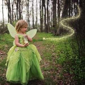 Tinkerbell Kostüm selber machen - Kleid für Mädchen