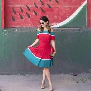 Wassermelone Kostüm selber machen - Kleid
