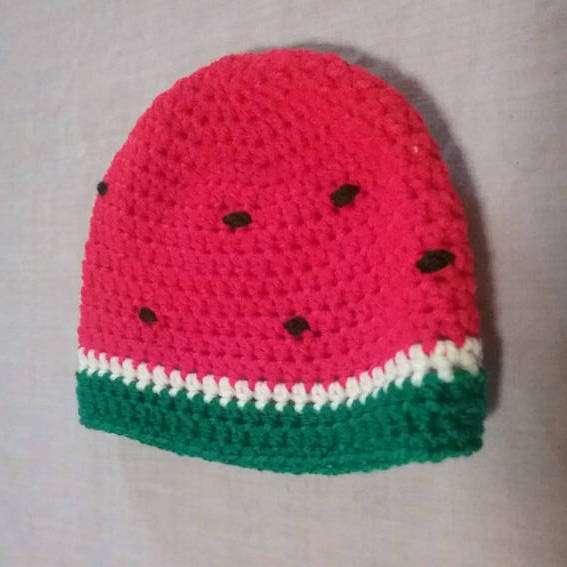 Wassermelonen Kostüm selber machen - Beanie