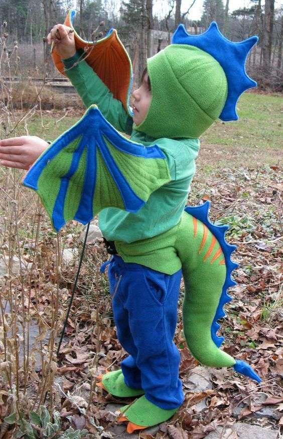 Etsy - Drachen Kostüm für Kinder Babys selber machen