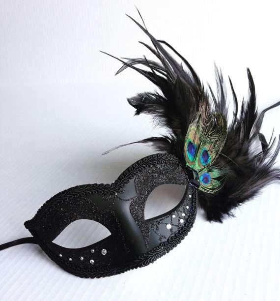 Pfau Kostüm selber machen - Masken