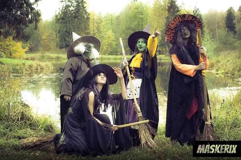 maskerix - Hexen Kostüm für Gruppen selber machen
