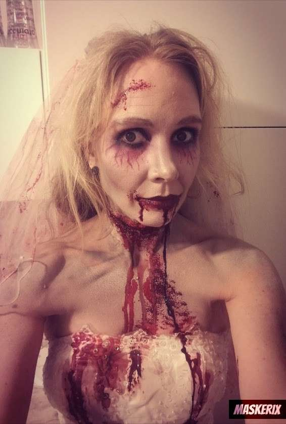 maskerix Grusel Zombie Kostüm Make Up selber machen