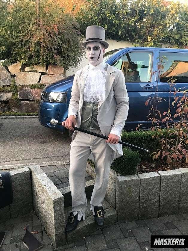maskerix Zauberer Zombie Kostüm Make Up selber machen