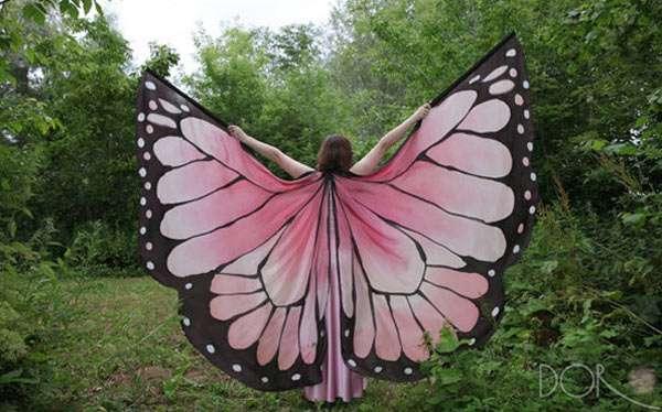 Schmetterling Kostüm selber machen