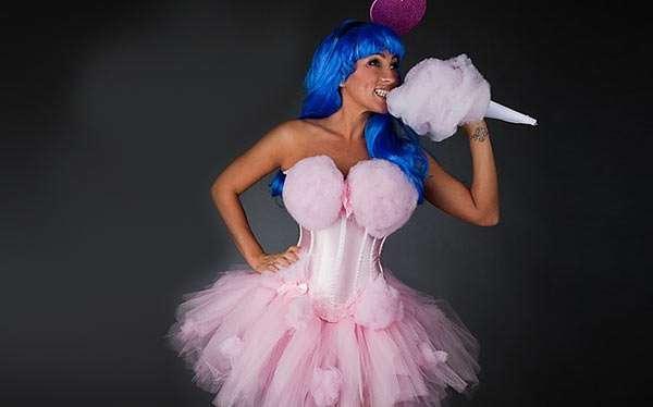Zuckerwatte Kostüm selber machen