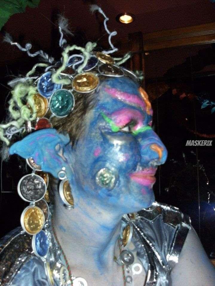 maskerix - Foto Contest Karneval 2018 - Alien Kostüm selber machen