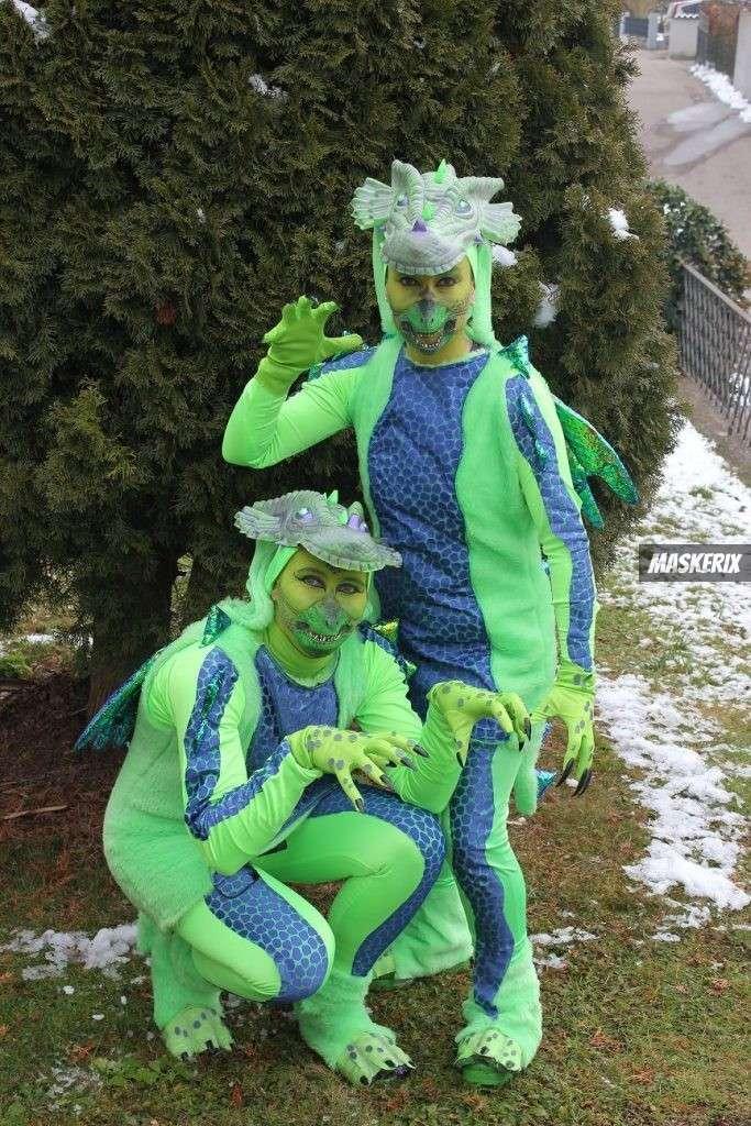maskerix - Foto Contest Karneval 2018 - Drachen Duo Kostüm selber machen