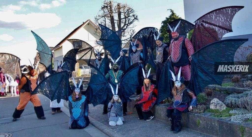 maskerix - Foto Contest Karneval 2018 - Drachen Kostüm selber machen