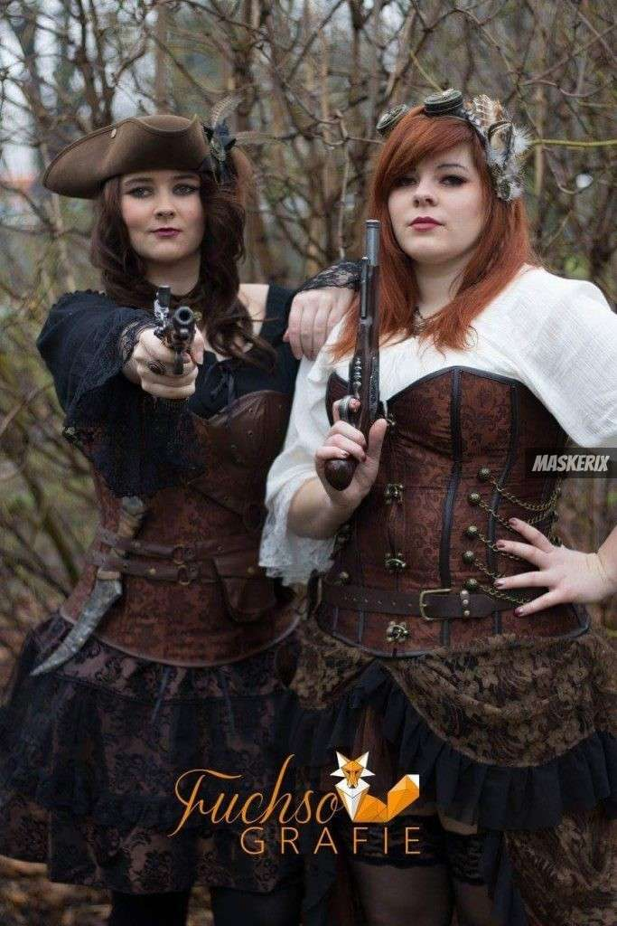 maskerix - Foto Contest Karneval 2018 - Steampunk Pirat Kostüm selber machen 2