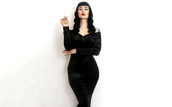 Morticia Addams Kostüm selber machen