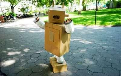 Retro Roboter Kostüm selber machen