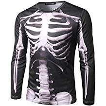 Amazon - Kostüm selber machen - Skelett Shirts