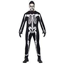 Amazon - Kostüm selber machen - Skelett Jumpsuite M